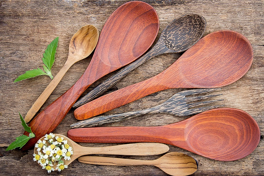 Four Cleaning Hacks For Wooden Kitchen Utensils